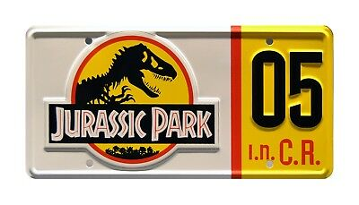 Jurassic Park | Ford Explorer | #05 | Metal Stamped Replica Prop License Plate