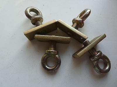4 Eye Bolts And Bolt Plates New