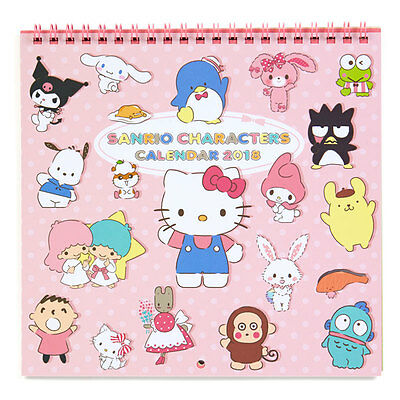 Sanrio characters Wall Calendar M 2018 Hello Kitty My Melody Little Twin Stars