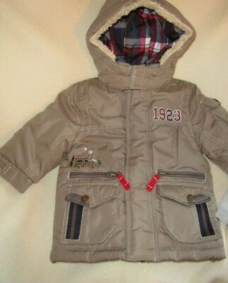 NWOT Boys Winter Puffer Coat/Jacket Tan/Taupe Toddler Size 12M