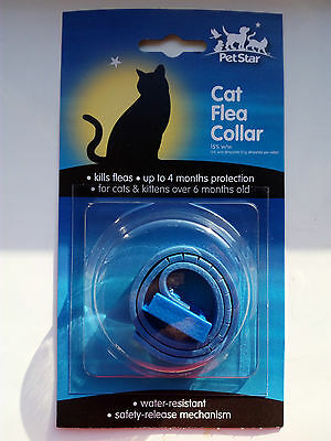 Cat Flea Collar - Kitten Safe - 4 Months Protection - Safety Release - Free Post
