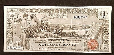 1896 US $1 One Dollar Silver Certificate Educational Note ~ Excellent Collector