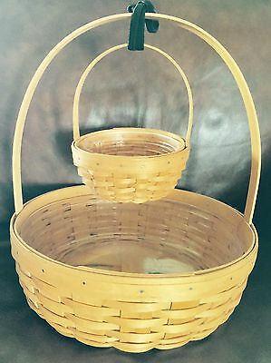 LONGABERGER  NEW LOT The 2001 Large And 2000 Small Easter BASKETS W/ protectors