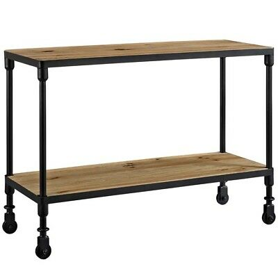 Raise Wood TV Stand, Brown