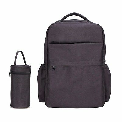 BLACK - multi-functional diaper nappy changing bag backpack stroller insulation