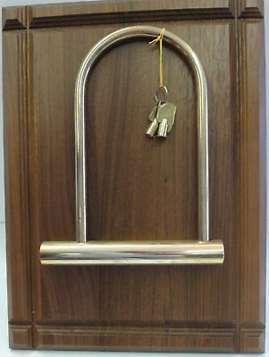 Bicycle U Lock Trophy (Gold Plated)