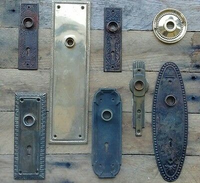 Antique Vintage Door Knob Back Plate Lot 8 plates - Eastlake Art Deco  Repurpose