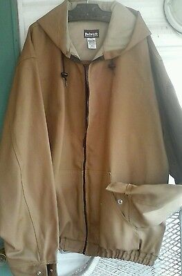 BULWARK TAN DUCK FR HOODED JACKET 3x long