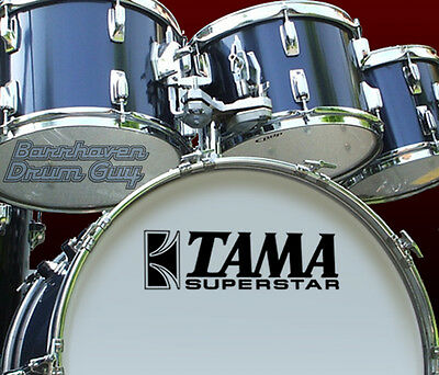 Tama Superstar, 70s Vintage, Repro Logo - Vinyl Decal, for Bass Drum Reso Head