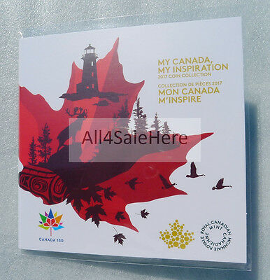2017 Canada 150th Anniversary Official RCM GITD Coloured 5-Coin Set Sealed Pack