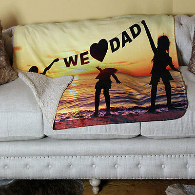 CUSTOM PHOTO SHERPA BLANKET Personalized Bedding & Throws by In Home Design