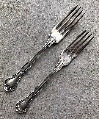A Pair Of Sterling Silver Gorham Chantilly Dinner Forks
