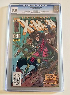 Uncanny X-Men #266 CGC 9.8 1st Gambit! White Pages Marvel 1990 FREE PRIORITY S/H