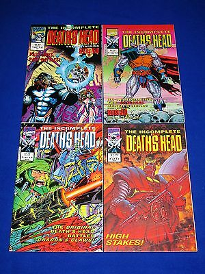 Lot of 4 THE INCOMPLETE DEATH'S HEAD Issues 1 - 4 [Marvel 1992] NM- or Better!