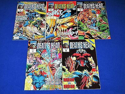 Lot of 5 DEATH'S HEAD II Issues 1 - 5 [Marvel 1992] NM- or Better!