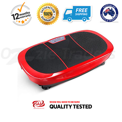 Vibration Exercise Machine Exercises Weight Loss Vibrating Platform Powerfit Red