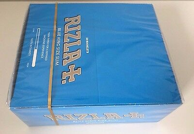 Full Box Of Rizla Blue King Size Slim Cigarette Smoking Rolling Papers Original