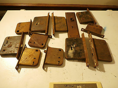 Lot of Antique Mortise Door Locks Hardware Skeleton Key Parts Repair Restore Set