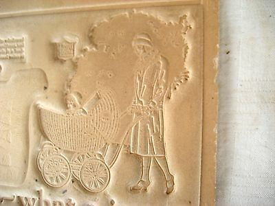Old cardboard printer's template wicker baby buggies 1920's 3 buggies pictured