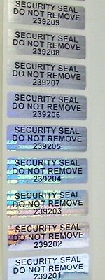 """500 SWL SVAG .5"""" x 1.5"""" Do Not Remove #'d Tamper Evident Sticker Security Seals"""