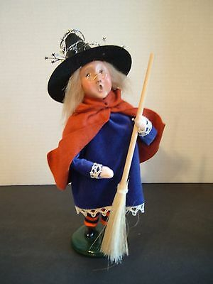 Byers Choice Halloween Costume Caroler ~ Little Witch ~ 2005 ~ Signed By Joyce