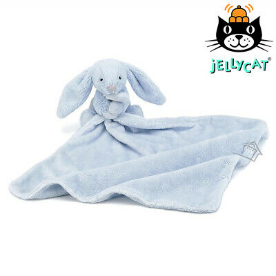 NEW Jellycat Bashful Blue Bunny Soother Baby Newborn Blanket Blankie Comforter