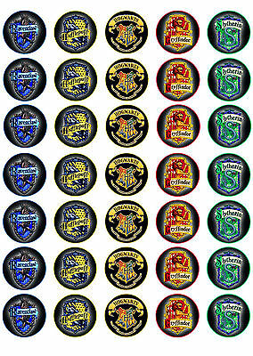 Harry Potter Hogwarts Crest Cupcake Topper Edible image Icing sheet cup cake