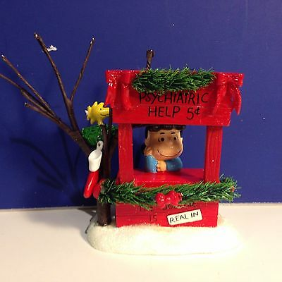 Dept 56 Peanuts LUCY IS IN Psychiatric Help NEW! Combine Shipping!