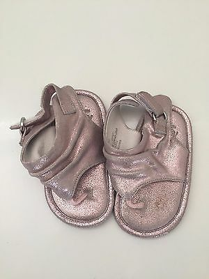 9f39b2ccea1 Nordstrom Baby Girl Shoes Sandals Pink Rose Gold Leather Toddler Infant Size  4M