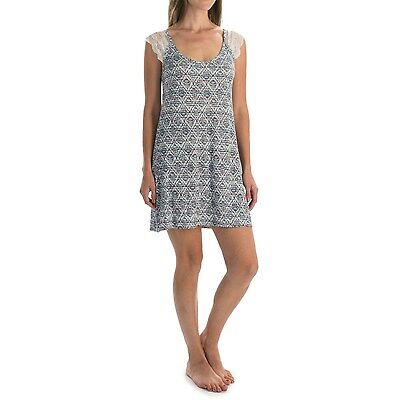 Laura Ashley Womens Stretchy Chemise Lace Night Gown Dress Pajamas NEW