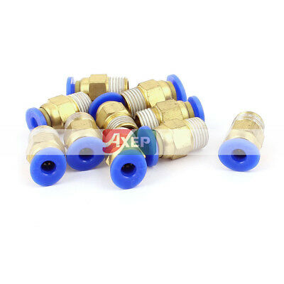 10Pcs 1/8BSP to 4mm Hose Air Pneumatic Coupler Fitting Pipe Connector Joint