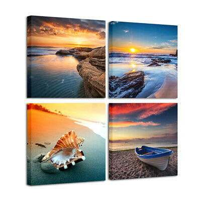 Canvas Prints Painting Pictures Wall Art Home Decor Landscape Sea Beach Photos