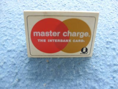 Vintage Master Card Advertising  Two Side Acceptance Plaque