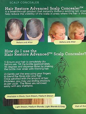 Hair SCALP CONCEALE INSTANTLY ELIMINATES THINNING HAIR AND BALDING AREAS THICKER