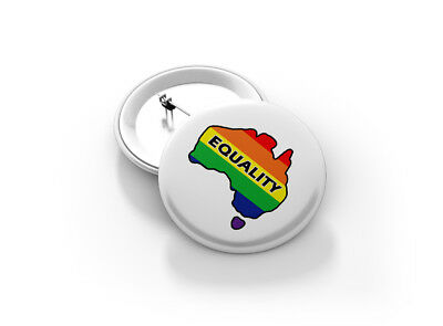 Gay Pride 58mm Equality Button Badge - BRAND NEW