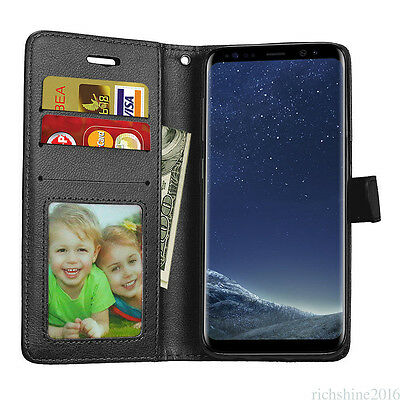 For Samsung A3 A5 A7 S6 S7 S8/S8+ Magnetic Flip PU Leather Slot Wallet Case SL