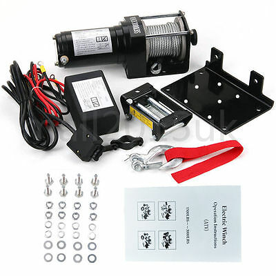 New 12V 3000LB Recovery Electric Winch ATV Remote Control Truck Trailer UK