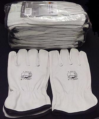 GLOVES CASTLE D-230 Leather Driver Work Gloves(XL-12 pairs)