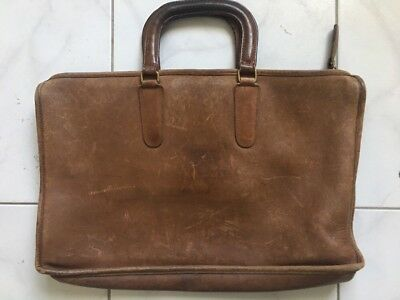 Vintage Coach Leather Briefcase Satchel Made NYC USA