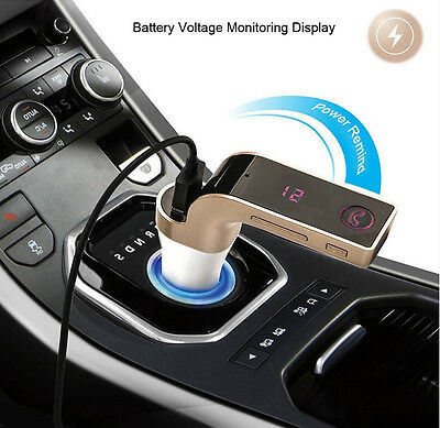 2017 Bluetooth Car FM Transmitter Wireless Radio Adapter USB Charger Mp3 Player