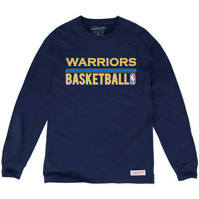 Golden State Warriors Mitchell & Ness NBA Stacked T-Shirt - Navy