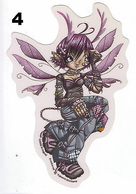 """headache Fairy"" Sticker - Goth Fantasy Punk Emo"