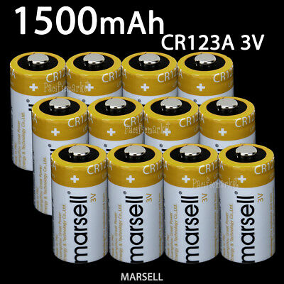MARSELL CR123A CR123 CR17345 Lithium 3V Battery Torch Camera Power 1500mAh