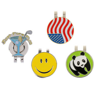 4 Pieces Golf Ball Marker Hat Clip Cap Clip Detachable