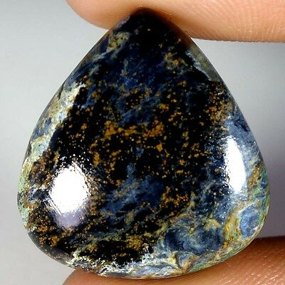 26.00CTs 100% Natural Chatoyant GOLDEN PIETERSITE Pear Cabochon Loose Gemstone