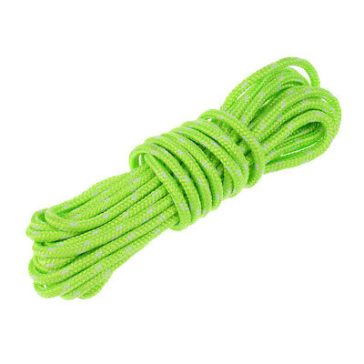 4mm Reflective Guyline Camping Tent Rope Guy Line Cord Paracord Fluorescent Line