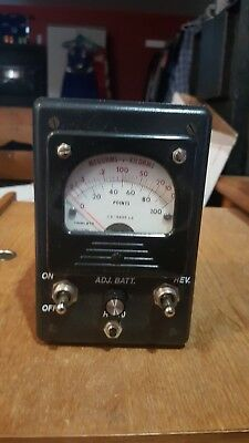 Simpson Points OHM Meter in Leather Case w/strap