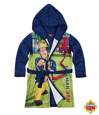 Official Fireman Sam Dressing Gown Fleece 3-8 Years Free 2Nd Class Postage