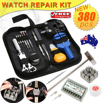 380pcs Watch Repair Kit Back Case Opener Spring Bar Strap Pin Link Remover Tool