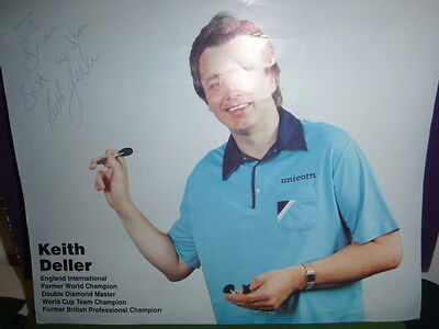 Hand Signed Keith Deller Poster